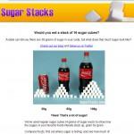 角砂糖で糖分を分かりやすく可視化したサイト
