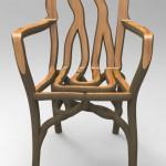 この手があったか!自然との共同作品。家具を栽培する男。