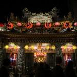 【台湾】饒河街夜市の隣の『松山慈祐宮』も旧正月はド派手!